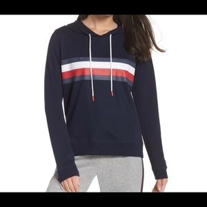 Tommy Hilfiger Global Stripe Navy Hoodie Pullover